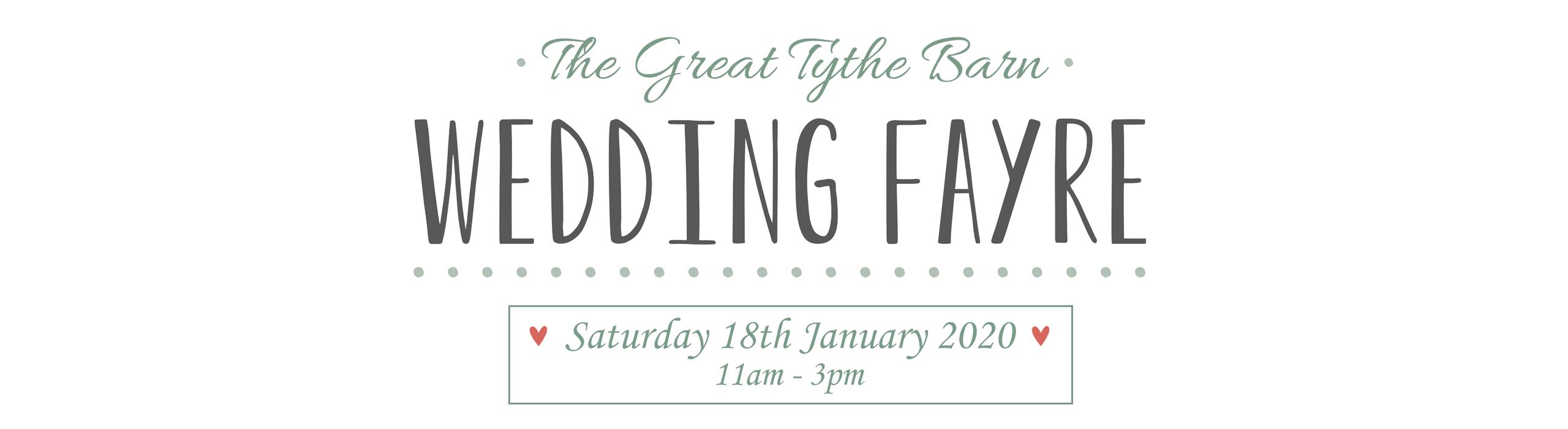 The Great Tythe Barn Wedding Fayre 2020